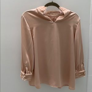 Zara rose colored shimmery top